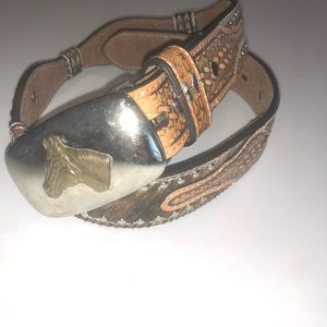 NOCONA Leather Equestrian Belt 24 Embroidered Tack